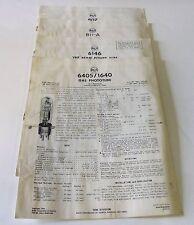 RCA Phototube Technical Data Sheets - 6405/1640, 6146, 811-A, 807 -- 1950's