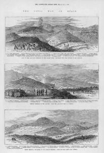 1874-Antique-Print-SPAIN-Civil-War-Carlist-San-Lorenzo-Pucheta-Montano-104