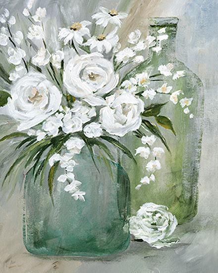 Nan  Rosey Afternoon Civière-image de L'écran Paysage Autruche Bouteille Fleurs
