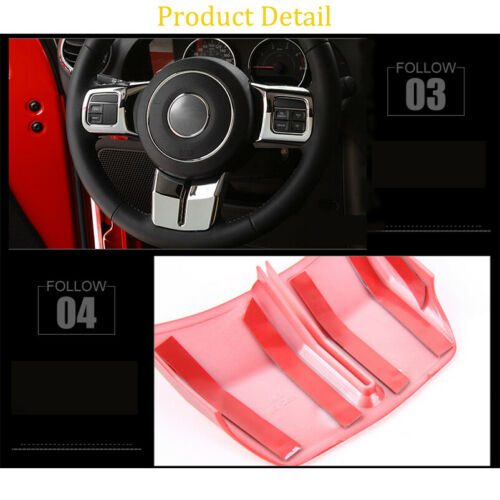3*Steering Wheel Cover Trim for Jeep Wrangler Patriot Compass Grand Cherokee 11+