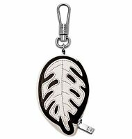 Fossil Opening Ceremony Black/white Leather Coin Case Carabiner Key $48
