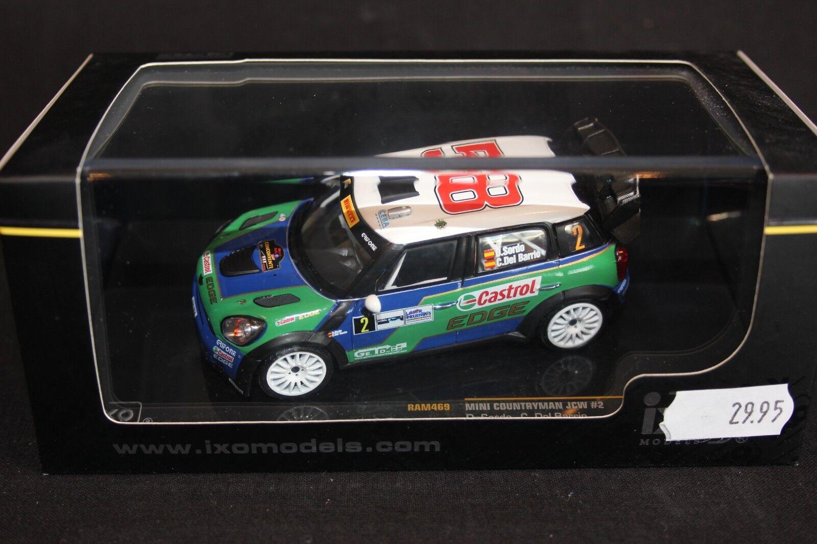 IXO Mini Countryman JCW 2011 1 43 43 43 Sordo   Del Barrio Monza Rally Show eed8b9