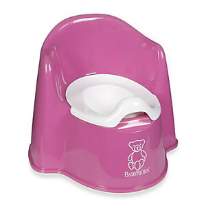 BABYBJORN Potty Chair Baby Toddler Toilet Training Sturdy Comfy Easy Clean Pink