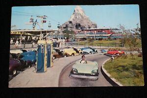 Disneyland 1959 Richfield Autopia Mark V Postcard  Matterhorn Monorail Skyway