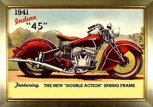 Indian Motorcycle Bike Never Die Parts Vintage Metal