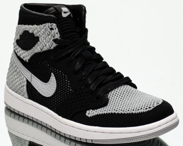 best sneakers 92cdd a6b0a Air Jordan 1 Retro High Flyknit BG Shadow Grey youth shoes NEW black  919702-003