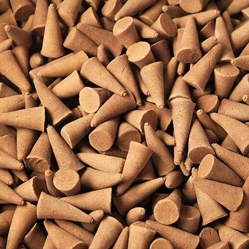 ~50~ Genuine Ancient Wisdom~Orange & Cinnamon ~Loose Indian Incense Cones~uk~