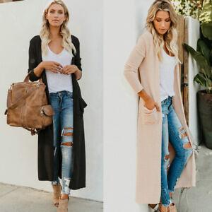 Women-039-s-Knitted-Sweater-Long-Sleeve-Casual-Cardigan-Knitwear-Jumper-Coat-Jacket
