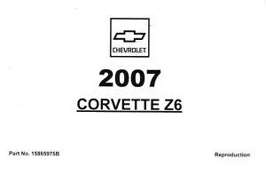 2007 chevrolet corvette z06 c6 owner s owners owner manual guide rh ebay com citroen c6 owners manual c6 corvette owners manual pdf