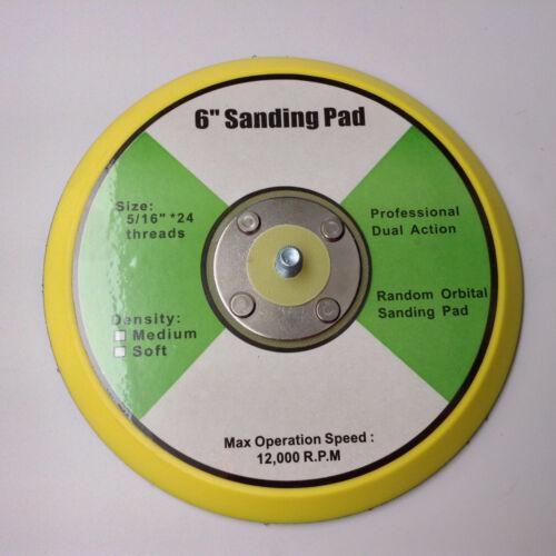 "3 Pad Buffing Kit with 3-6/"" Waffle Foam Grip Pads /& 5//16/""-24 Hook /& Loop Pad"