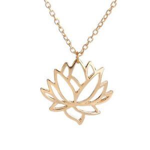 Elegant lotus leaf flower necklace hollow simple buddhist pendant image is loading elegant lotus leaf flower necklace hollow simple buddhist aloadofball Images