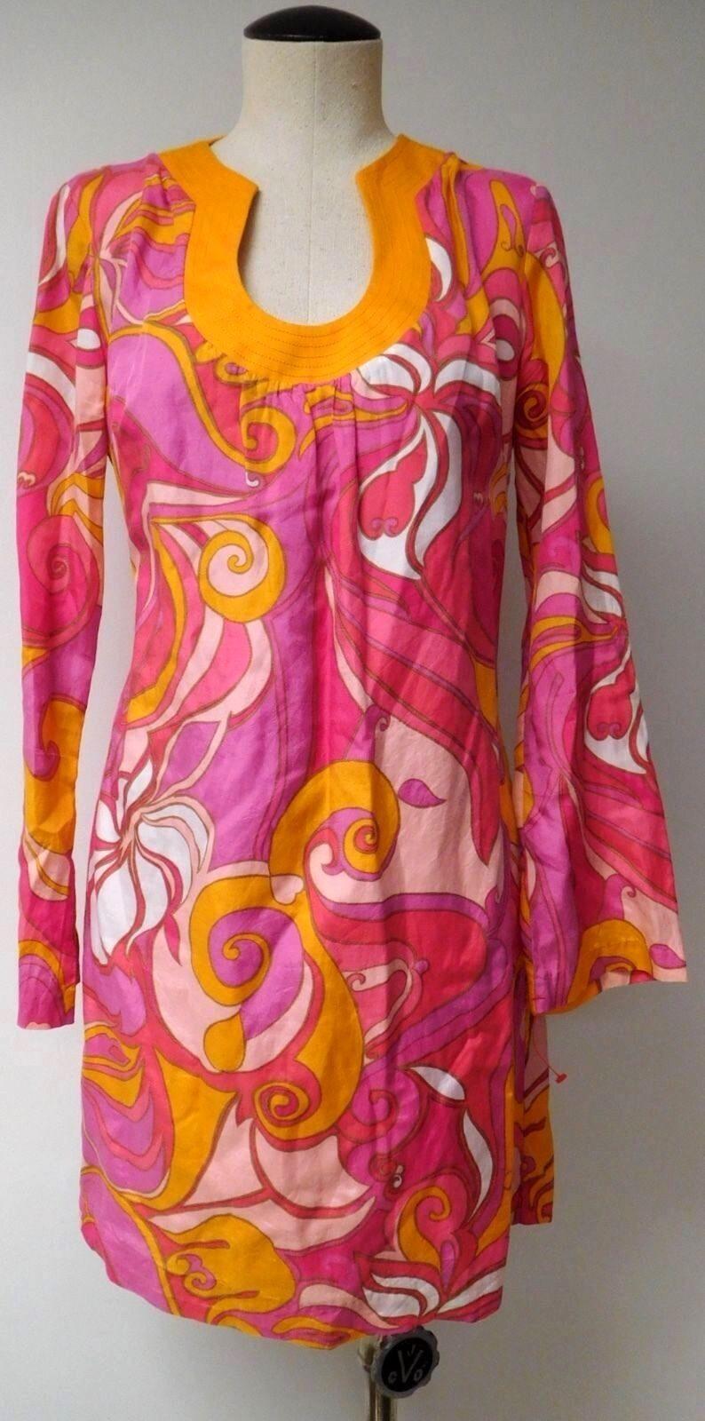 TRINA TURK COLLECTION FOR BANANA REPUBLIC SUMMER 2012 TUNIC DRESS SILK BLEND 4