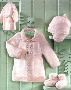 Knitting Pattern-Baby Coat- hat and