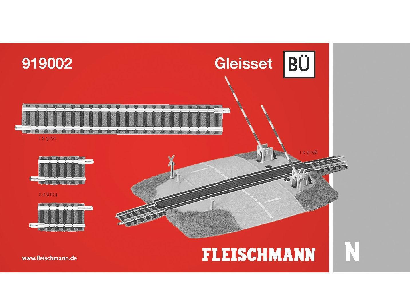 Fleischmann 919002-gleisset passaggio a livello-Spur N-NUOVO