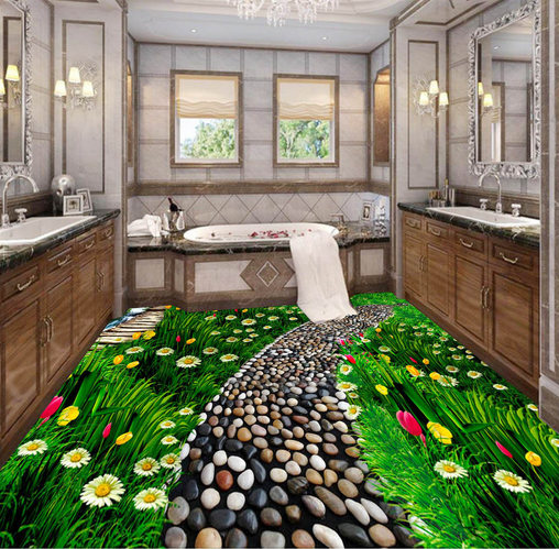 3D Stone Garden Path 73 Floor WallPaper Murals Wall Print Decal AJ WALLPAPER US