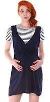 Pregnant Fashion Women Maternity Stripe Short Sleeve Casual Cotton Summer Dress