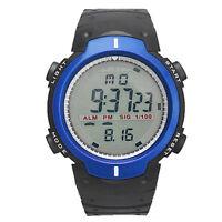 Men's Women's Cool Waterproof Digital Stopwatch Date Rubber Sport Wrist Watch