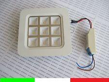 10x GRI 9x1w 9w LUMINAIRE carré LED encastré 90° BLANC CHAUD CADRE blanc