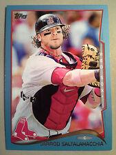 Blue Jays JARROD SALTALAMACCHIA 2014 Topps Wal-Mart BLUE Border Card #48 Red Sox