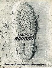 PUBLICITE ADVERTISING   1966   BAUDOU   bottes botillons brodequins