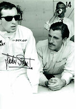 Jackie STEWART SIGNED 10x8 Photo Autograph with Graham HILL AFTAL RARE COA
