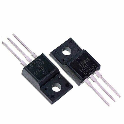 10 Stücke FQPF10N60C 10A 600V TO-220F MOSFET Field Effect Transistoren