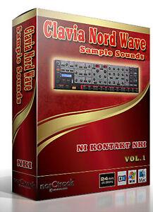 Clavia Nord Wave VOL.1 analog synth Samples Sounds NI KONTAKT NKI