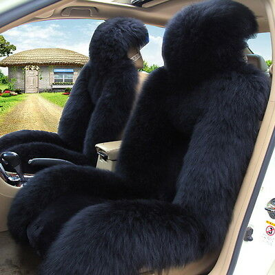 Genuine Australian Pair Sheepskin Car 2 Front Seat Covers Set Universal M12