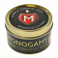 Large Monogamy Steamy Candle (Amber & Oriental Spice),  ##S
