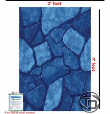 4ft INGROUND & ABOVE Swimming Pool Vinyl Liner Repair Kit w/glue