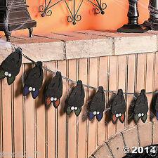 HALLOWEEN Haunted House Party Decoration Layered Felt Vampire BAT GARLAND