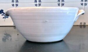Vtg-J-DUNLAP-Matcha-Tea-Bowl-BRIGHT-WHITE-7-1-2-034-Mixing-Bowl-Pour-Spout