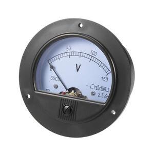 DC 0-150v Analog Panel Voltage Gauge Volt Meter 65c5 2.5 Error Margin
