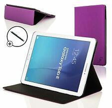 Purple Clam Shell Case Cover for Samsung Galaxy Tab E 9.6 T560 + Stylus