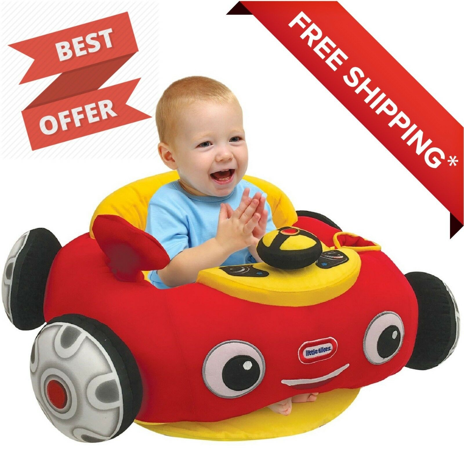 Little Tikes Cozy Coupe Infant Plush Floor Chair NEW