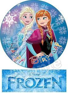 Eiskonigin Frozen Anna Und Elsa Essbar Tortenbild Party Deko