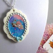 handcrafted fairykei lolita little twin stars necklace galaxy