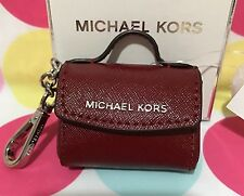 NEW MICHAEL KORS AVA KEY FOB BAG CHARM COIN PURSE KEY CHAIN CHERRY $58.00