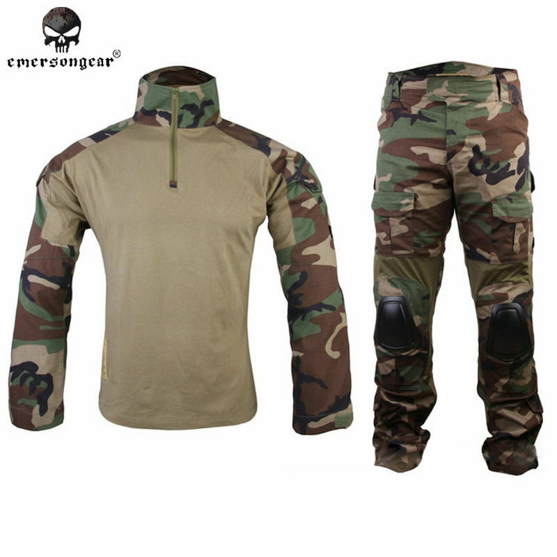 EMERSON Gen2 Tactical Uniform Army BDU Cype Style Wargame Combat Woodland Gear