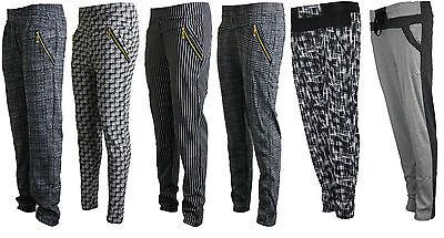 Affidabile Donna Checkd Foderato Zip Slim Elasticizzato Pants Pantaloni Jeggings Tregging Nuovo-mostra Il Titolo Originale