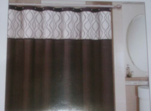 "FAUX SILK SHOWER CURTAIN WITH DECORATIVE EMBROIDERY SIZE 72/""X 72/"" NEW"