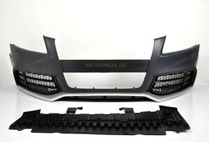 Fuer-Audi-A5-8T-RS5-Look-Stossstange-07-12-Wabengrill-Bumper-Kuehlergrill-Spoiler