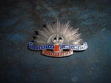 VINTAGE MILITARY BADGE STERLING SILVER AUSTRALIAN COMMONWEALTH MILITARY FORCES !