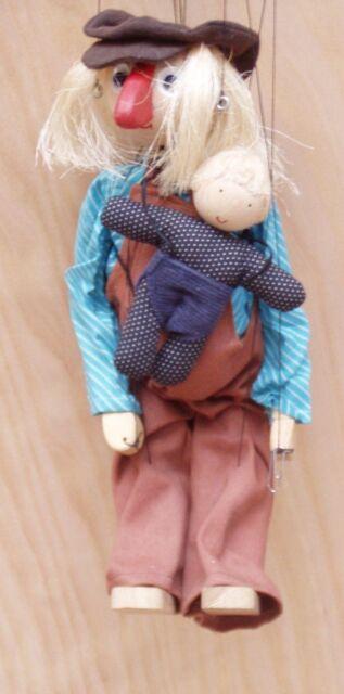 Marionette Vater mit Kind
