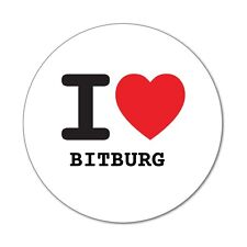 I love BITBURG  - Aufkleber Sticker Decal - 6cm