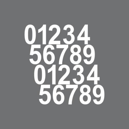 20 dígitos altura 2cm blanco cifras habitación casa números de RC pegatinas tatuaje diapositiva
