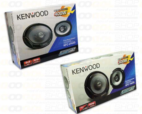 """KENWOOD 2 PAIR PACKAGE 2way 6.5/"""" KFC-1665S 6x9/"""" KFC-6965S Car Speakers"""