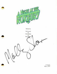 MOLLY-SHANNON-SIGNED-AUTOGRAPH-A-NIGHT-AT-THE-ROXBURY-MOVIE-SCRIPT-WILL-FERRELL