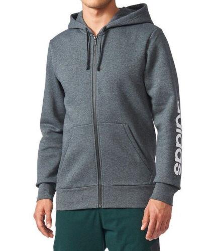 Heren met l Adidas jack Fz capuchon xl Lineair Donkergrijs xxl Grijs Fleece M Essentials H TddZFRx