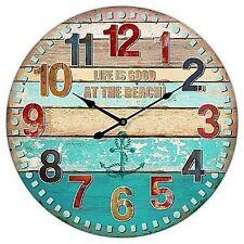"Extra, Extra Large Retro Shabby Chic Wall Clock. 58cm Diameter (22"" +) 7079"